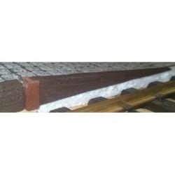 Bahnsteigkante Holzschwellen, Schräge rechts