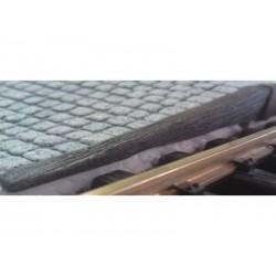 Bahnsteigkante Holzschwellen, Schräge links