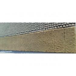 Gehweg- Platten ohne Bordstein